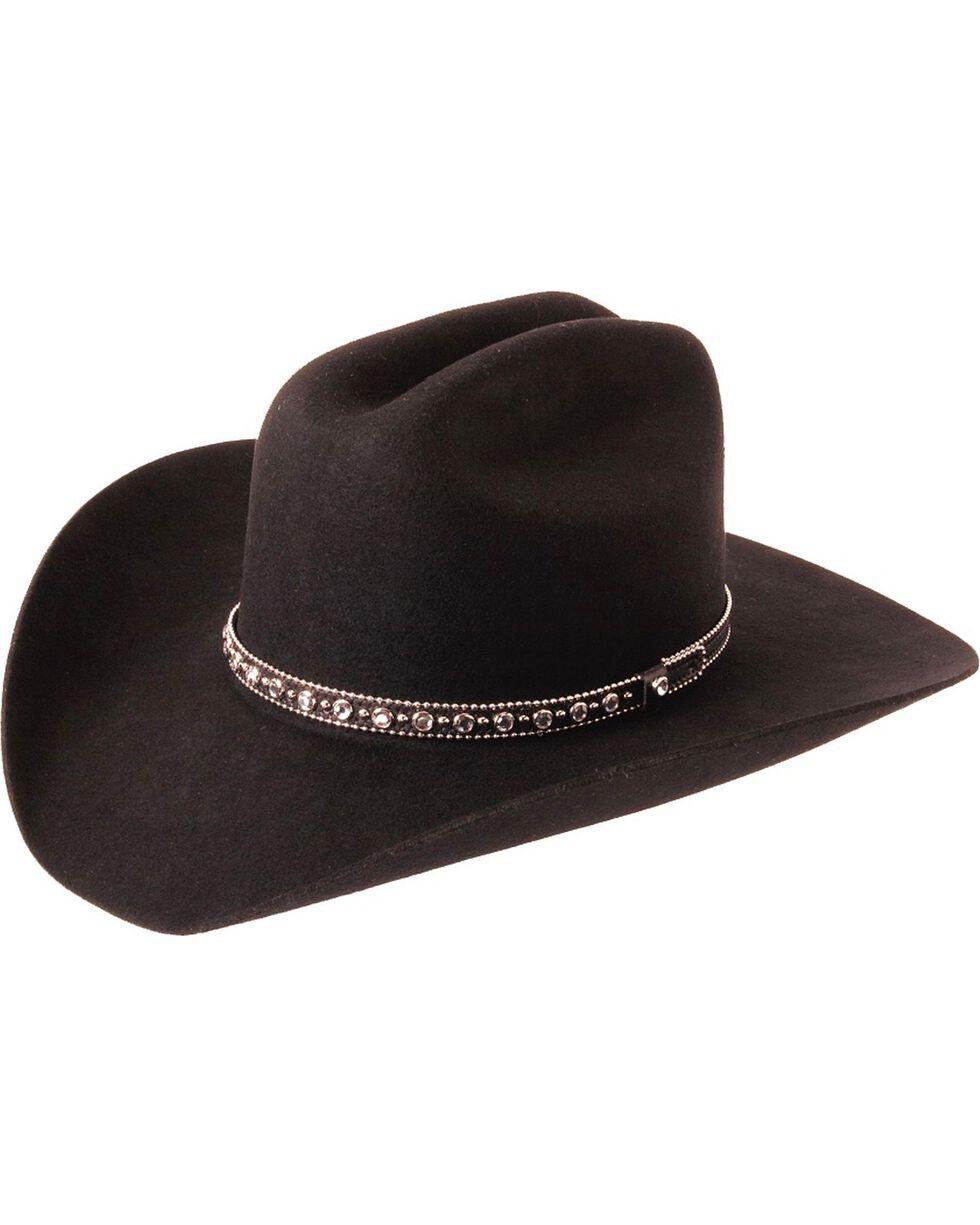 Silverado Fancy Cattleman Wool Felt Cowboy Hat, Black, hi-res
