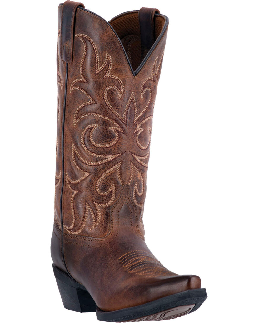 Laredo Women's Embroidered Snip Toe Western Boots, Rust, hi-res