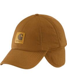 Carhartt Men's WorkFlex Ear Flap Cap, Carhartt Brown, hi-res