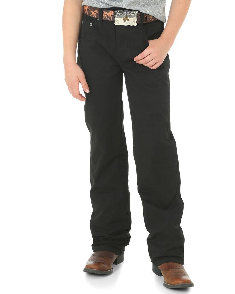 Wrangler Boys' (8-16) Black RETRO Slim Fit Jeans - Straight Leg , Black, hi-res