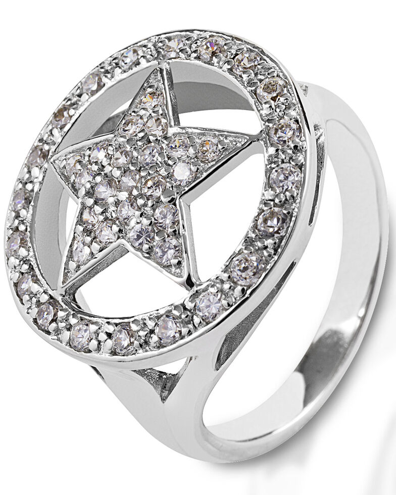 Kelly Herd Women's Large Star Ring , Silver, hi-res