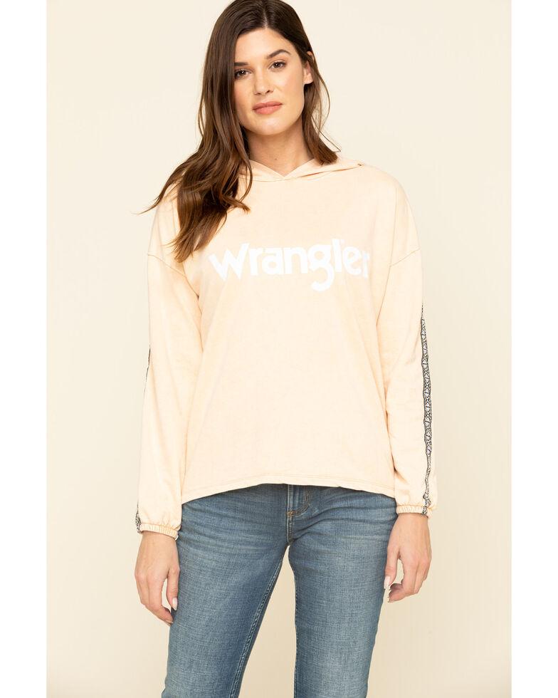 Wrangler Women's Peach Logo Hoodie, Peach, hi-res