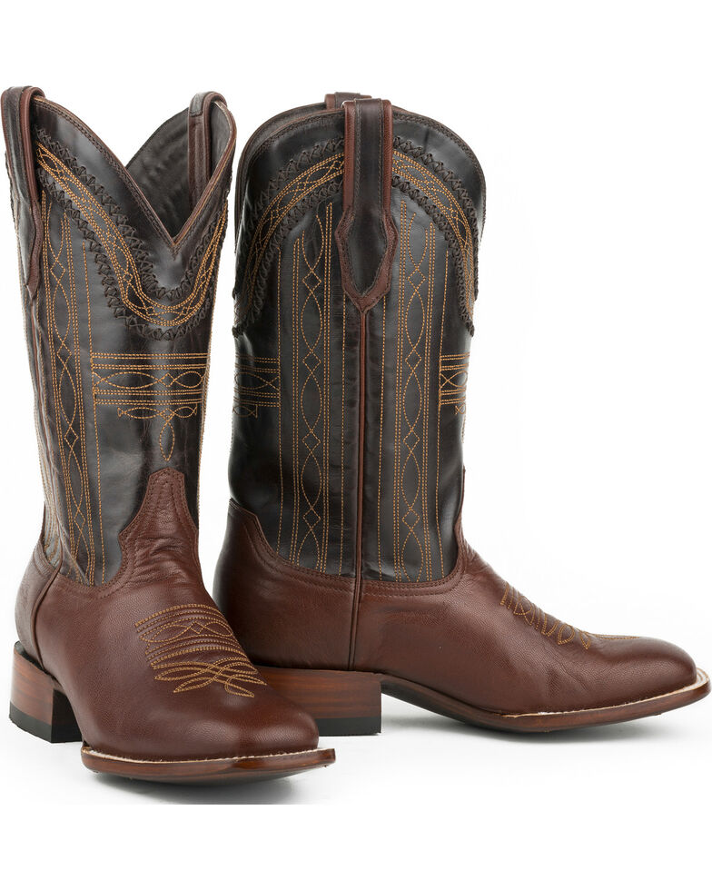 Stetson Men's Goat Vamp Western Boots, Brown, hi-res