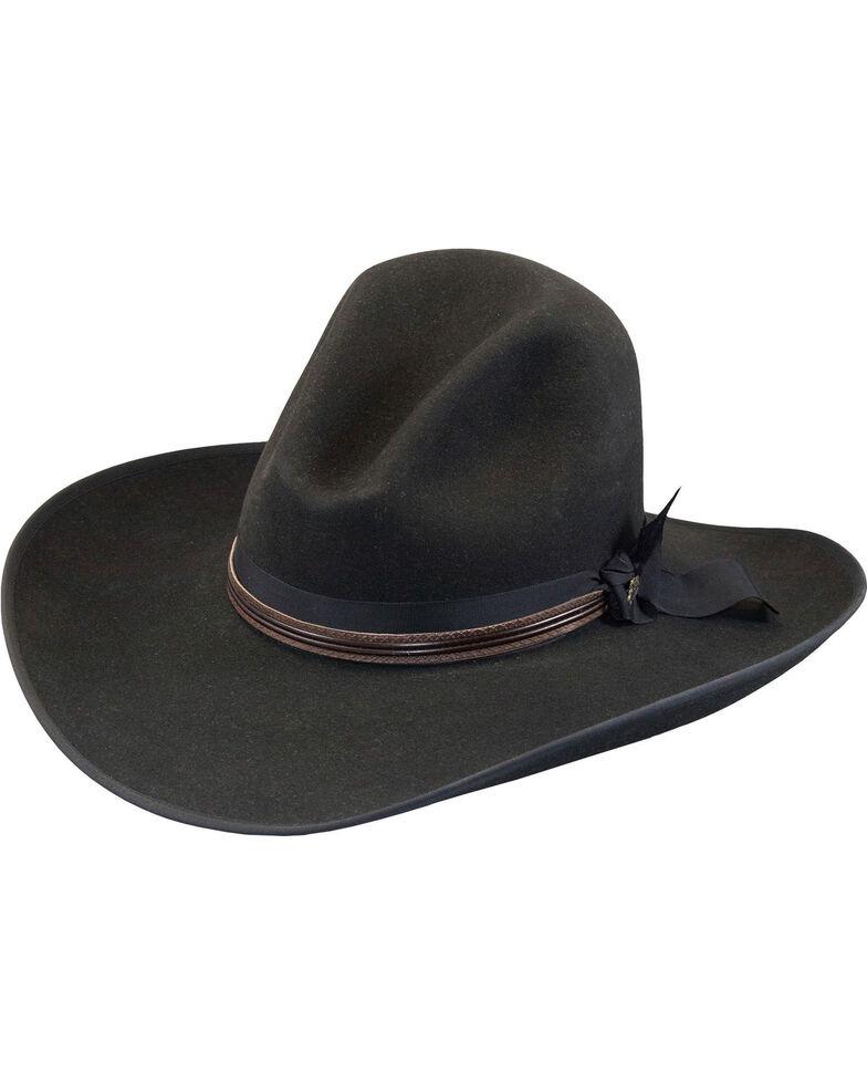 Justin Men's Black 7X Fur Felt Quick Draw Cowboy Hat, Black, hi-res