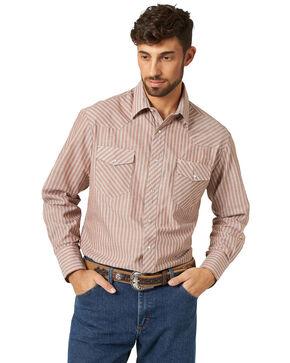 Wrangler Men's Sport Western Plaid Shirt, Stripe, hi-res