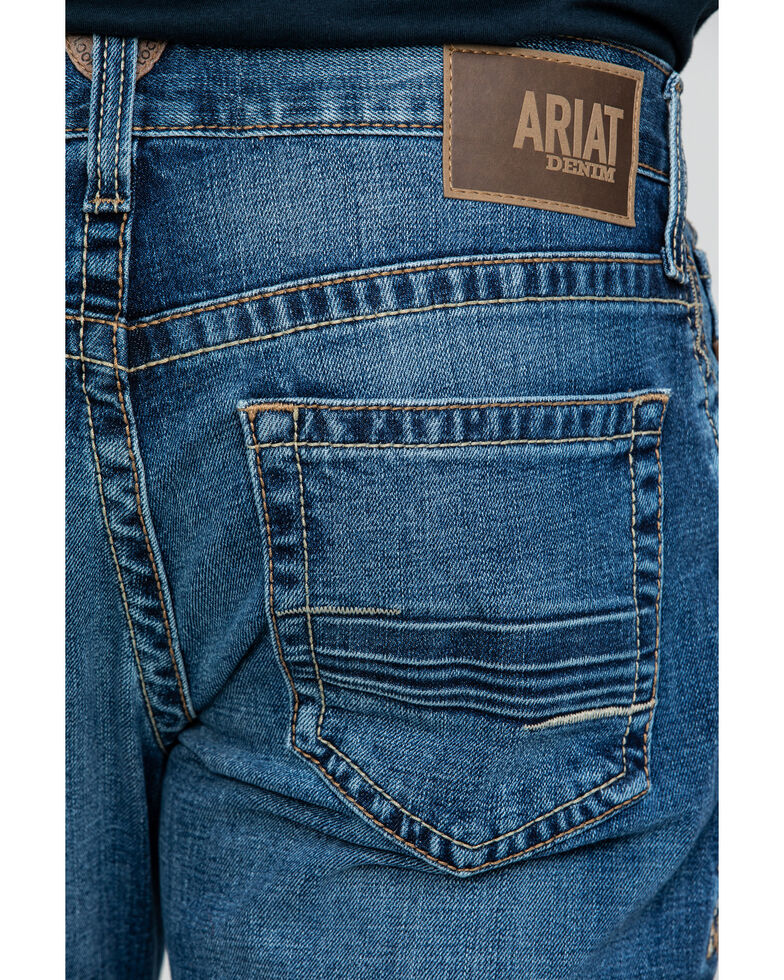 Ariat Men's M4 Summit Low Rise Stretch Bootcut Jeans - Big , Blue, hi-res
