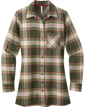 Mountain Khakis Women's Penny Plaid Tunic Shirt, Green, hi-res