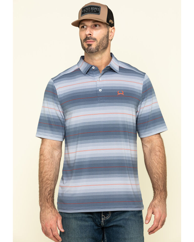 Cinch Men's Multi Striped Button Short Sleeve Polo Shirt , Multi, hi-res