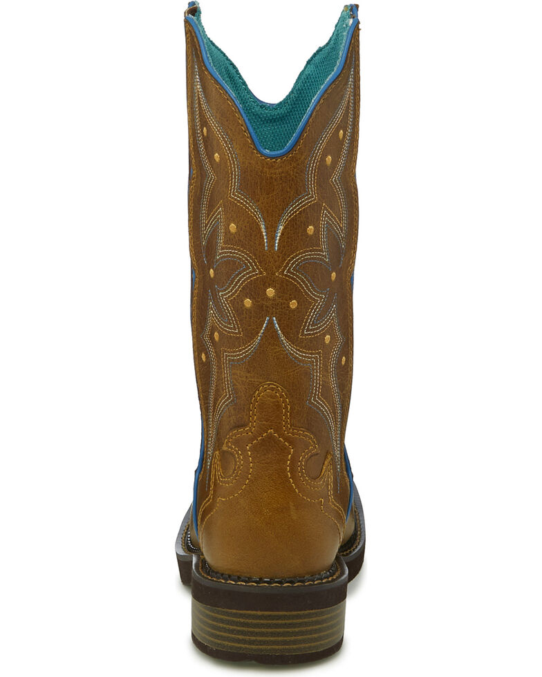 6d3bcdd6ed4 Justin Gypsy Women's Tan Heritage Floral Inlay Cowgirl Boots - Square Toe