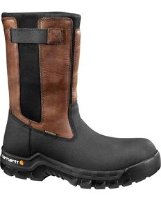 Carhartt Men's Rugged Flex Mud Wellington Waterproof Work Boots - Composite Toe , Black, hi-res