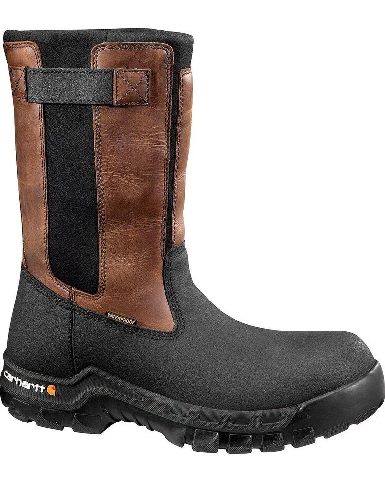 Carhartt Men's Rugged Flex Mud Wellington Waterproof Work Boots - Composite Toe , Black, hi-res