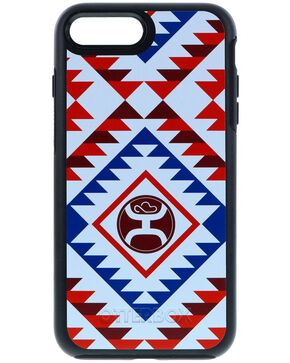 HOOey Aztec iPhone 7 & 8 Plus Case, Red/white/blue, hi-res