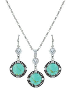 Montana Silversmiths Women's True North Turquoise Jewelry Set, Turquoise, hi-res