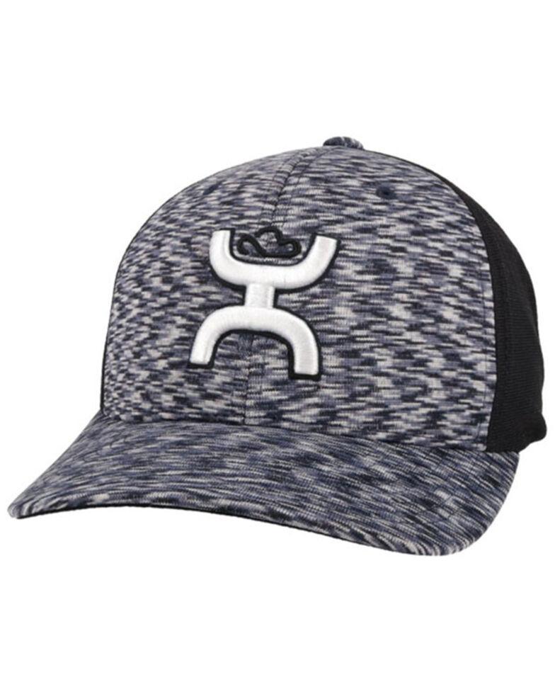 HOOey Men's Navy Ash Logo Flex Fit Ball Cap , Navy, hi-res