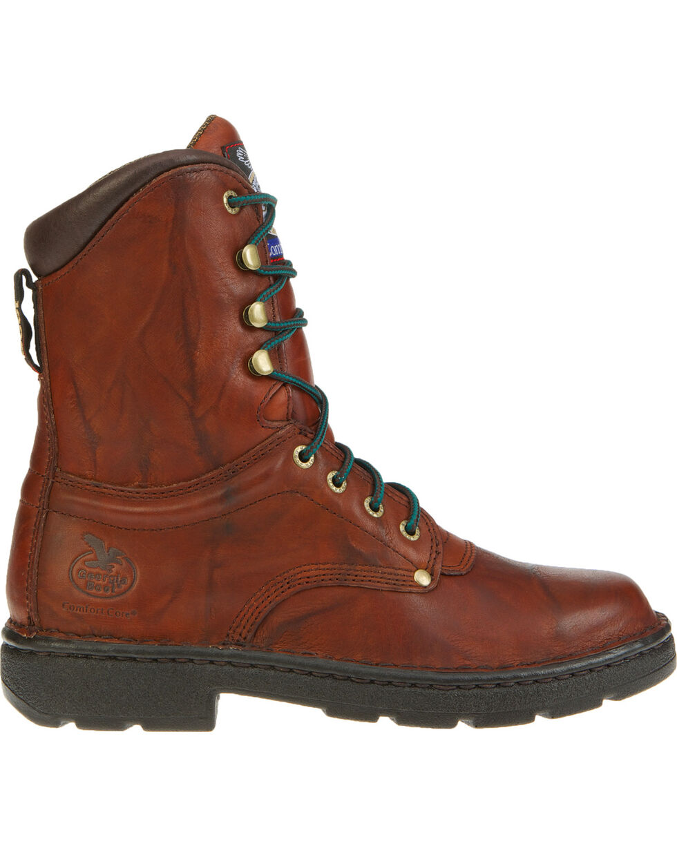 Georgia Men's Eagle Light Work Boots, Russet, hi-res