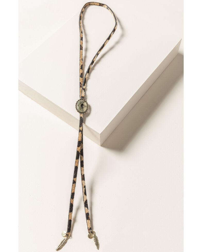 Shyanne Women's Leopard Bolo Necklace, Leopard, hi-res