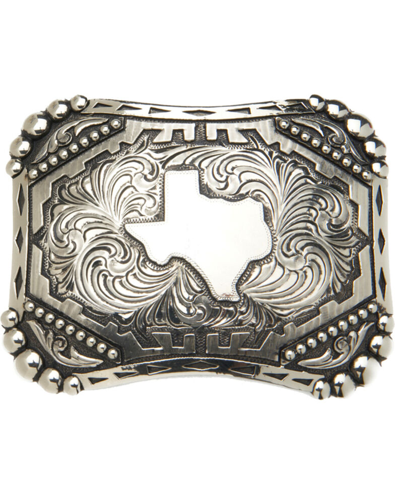 "AndWest Vintage ""Silverton"" State of Texas Belt Buckle, Silver, hi-res"