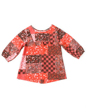 Shyanne Toddler Girls' Print Peasant Long Sleeve Top , Multi, hi-res
