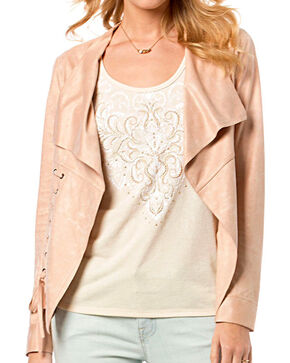Miss Me Women's Straight Laced Jacket, Pink, hi-res