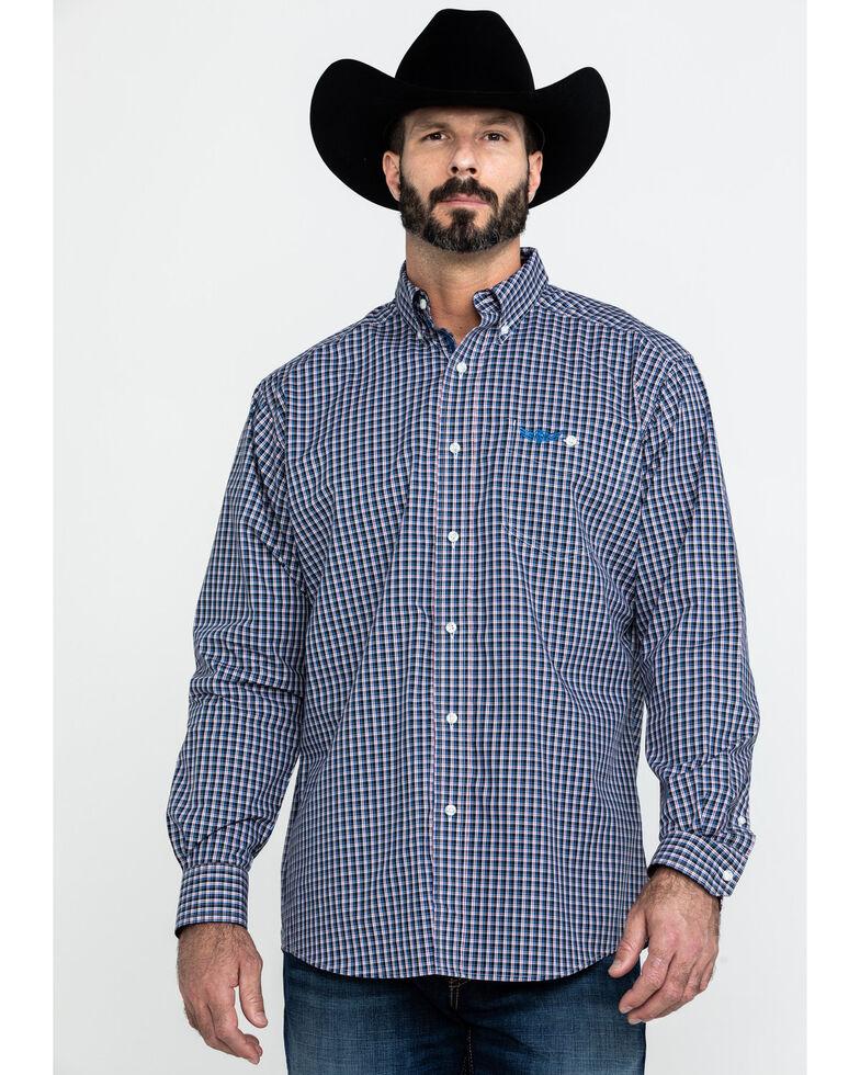Ariat Men's Thunder Multi Plaid Long Sleeve Western Shirt , Multi, hi-res