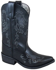 Smoky Mountain Girls' Black Jolene Western Boots - Snip Toe, Black, hi-res