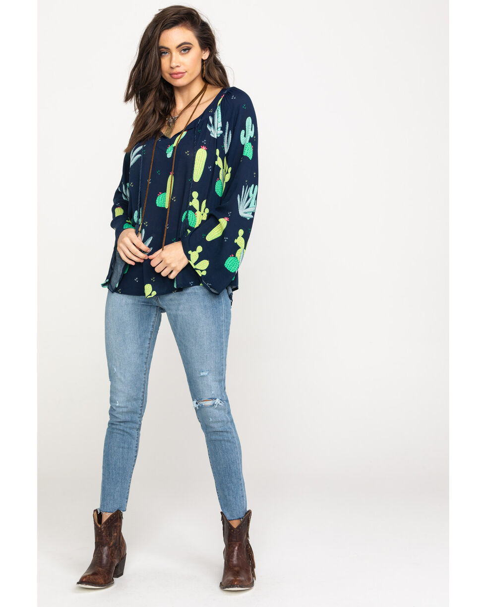 Ariat Women's Agave Long Sleeve Top, Multi, hi-res
