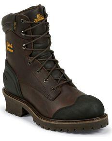 Chippewa Men's Waterproof Composite Toe Logger Boots, Chocolate, hi-res