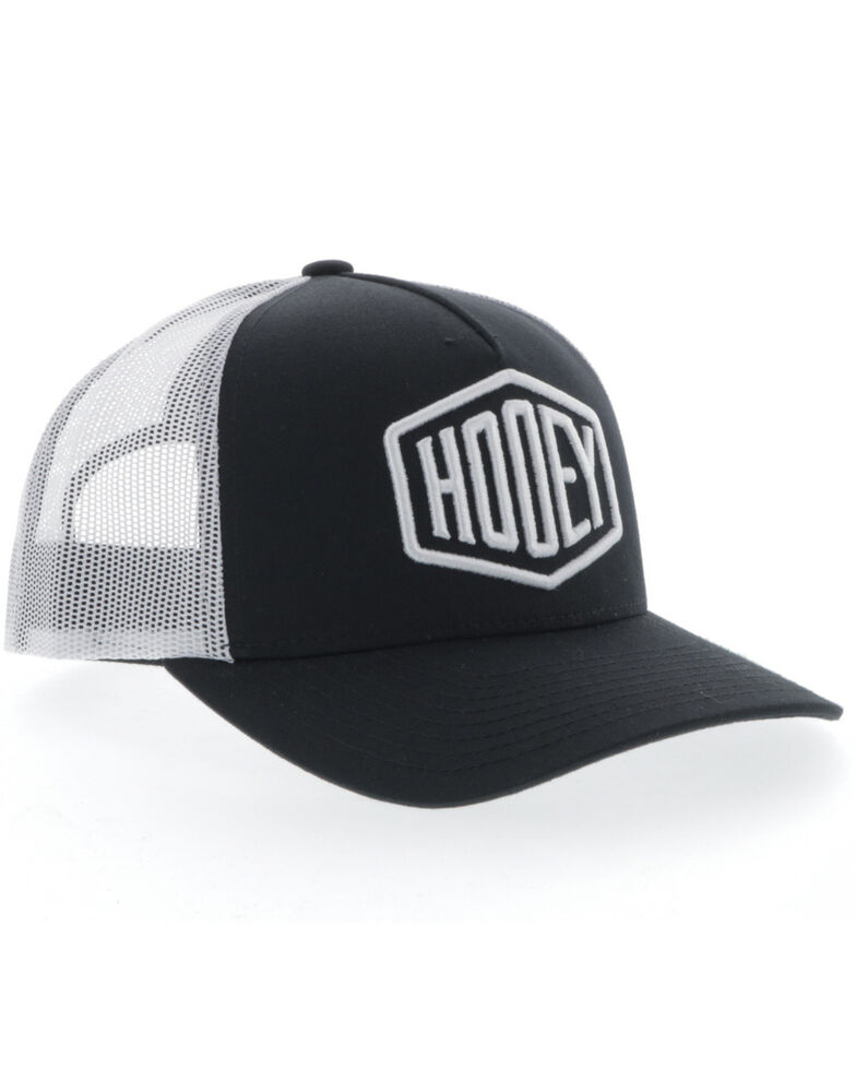HOOey Men's Black Plush Mesh Back Trucker Cap , Black, hi-res