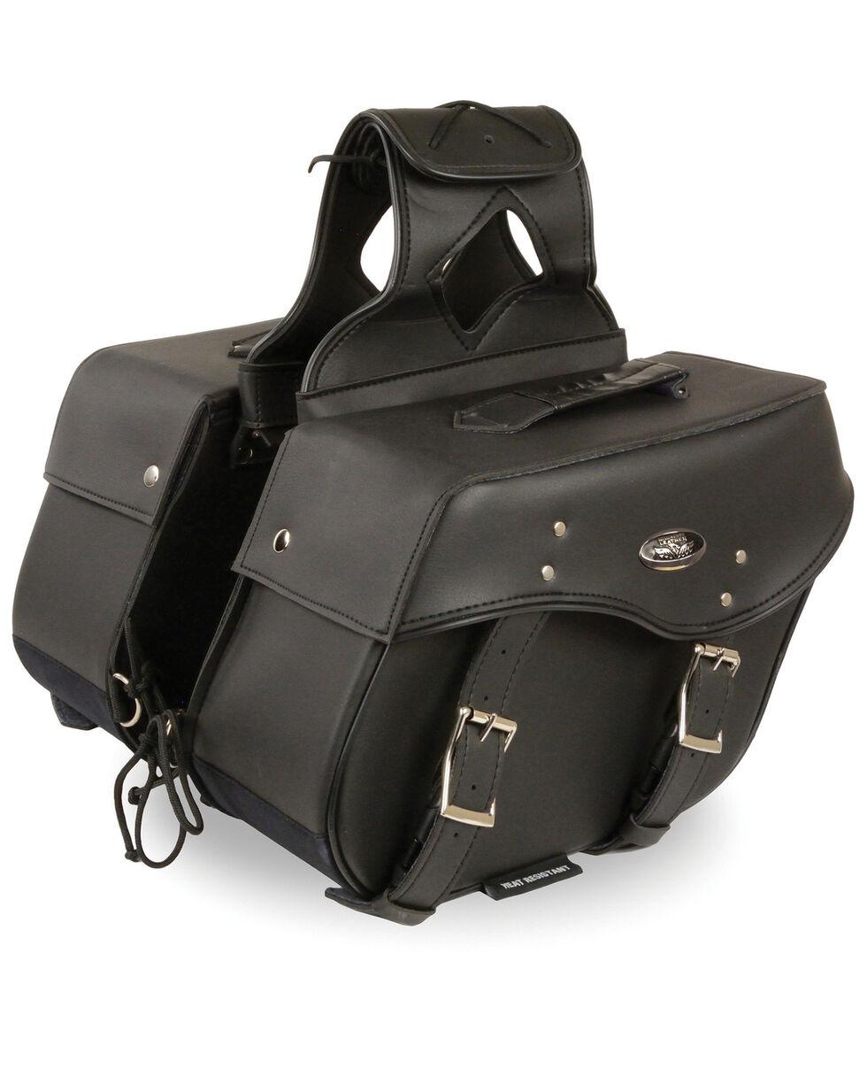 Milwaukee Leather Medium Zip-Off Throw Over Saddle Bag, Black, hi-res
