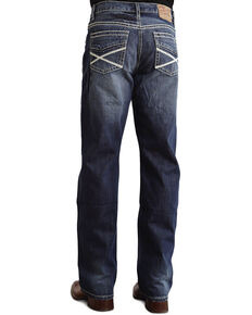 """Stetson Modern Fit Heavy """"X"""" Stitched Jeans, Med Wash, hi-res"""