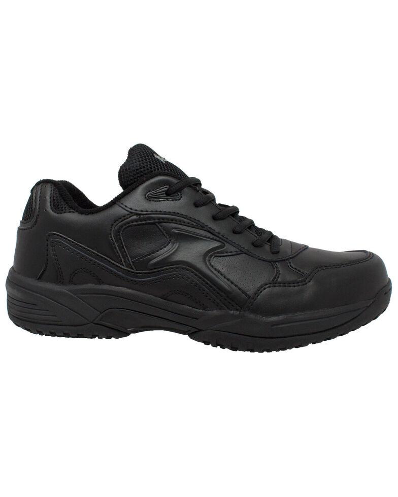 Ad Tec Men's Athletic Black Uniform Work Shoes - Round Toe, Black, hi-res