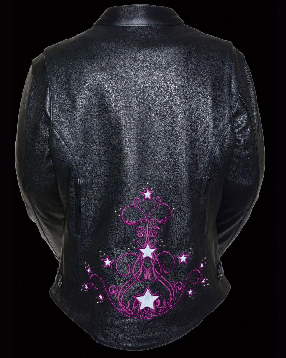 Milwaukee Leather Women's Reflective Star Jacket - 3X, , hi-res