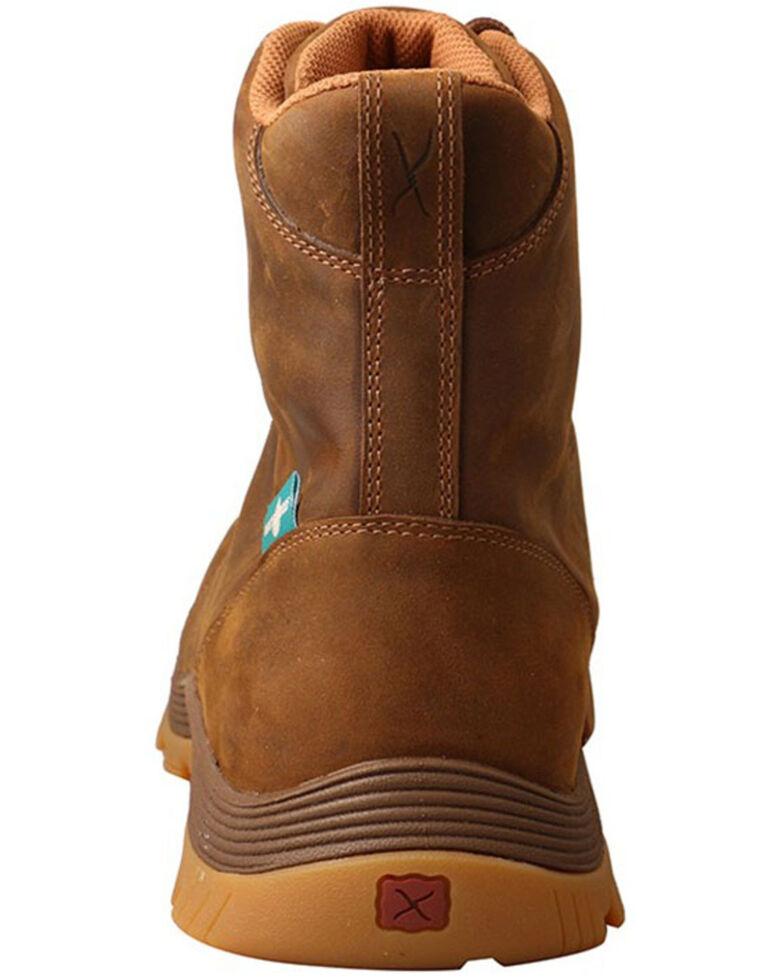 Twisted X Men's Oblique Lace-Up Work Boots - Nano Composite Toe, Brown, hi-res