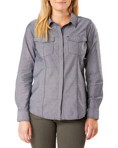 5.11 Tactical Women's Athena Long Sleeve Work Shirt , Black, hi-res