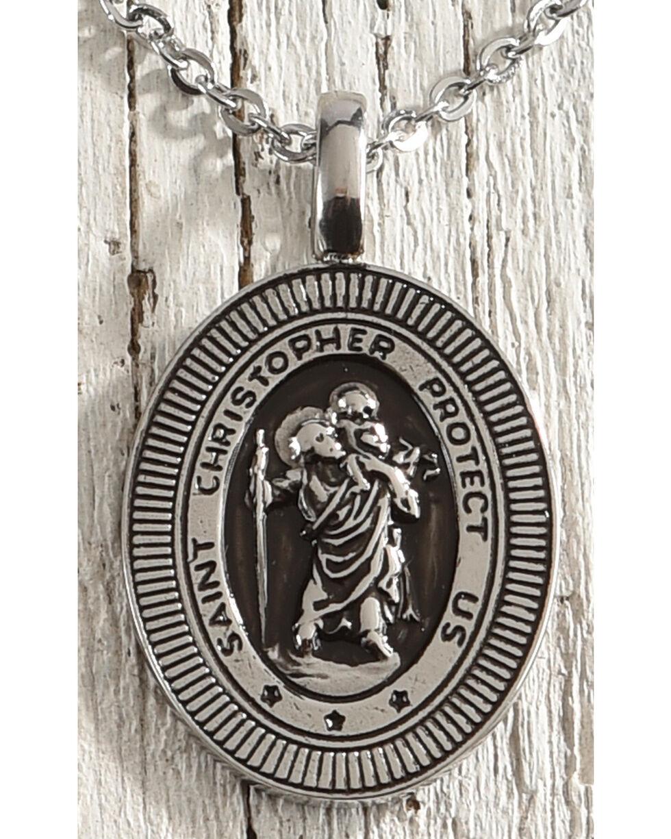 Cody James St. Christopher Medallion Necklace, No Color, hi-res