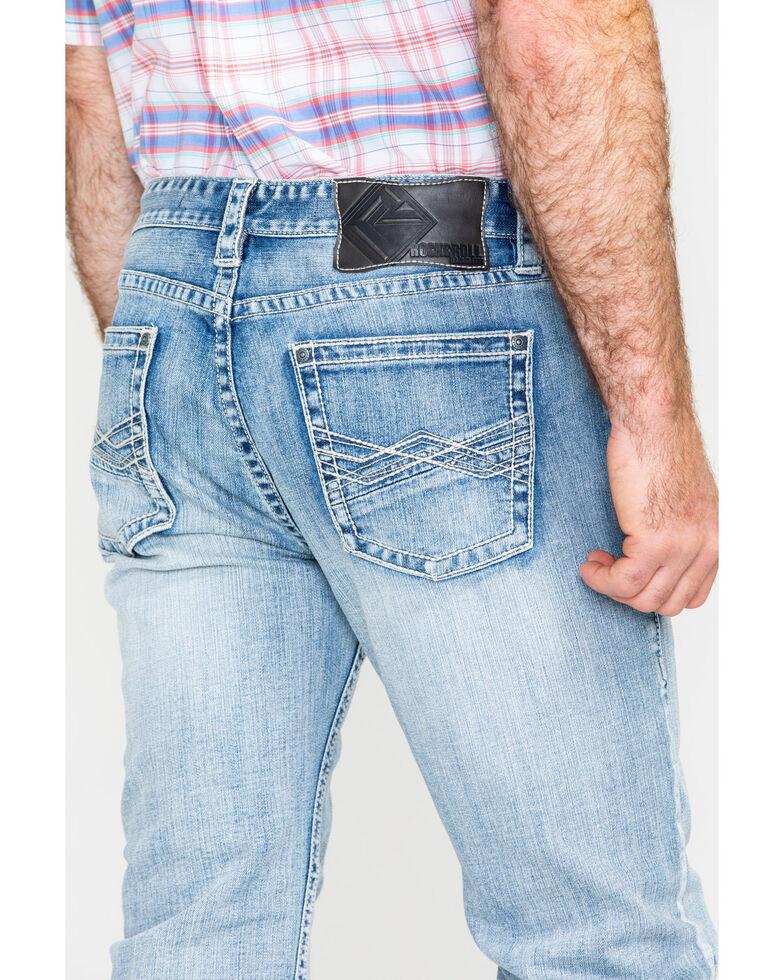 Rock & Roll Cowboy Men's Abstract A Reflex Slim Straight Jeans  , Indigo, hi-res