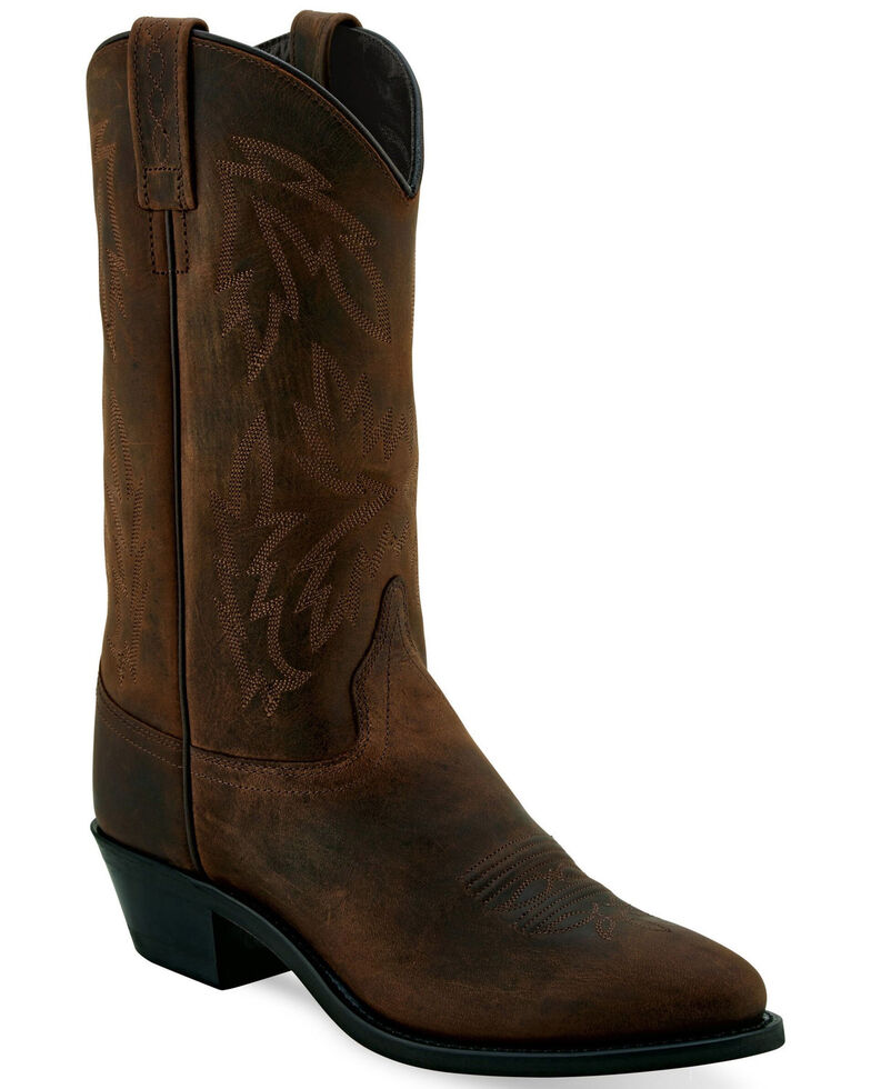 Old West Women's Fancy Brown Western Boots - Pointed Toe, Brown, hi-res