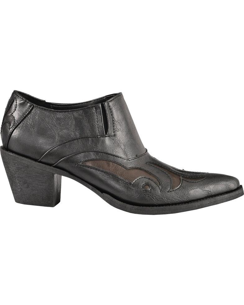 Roper Women's Ankle Western Boots, Black, hi-res
