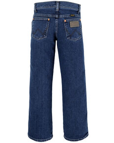 Wrangler Boys' 8-16 Stonewash Active Flex Slim Cowboy Cut Jeans , Blue, hi-res
