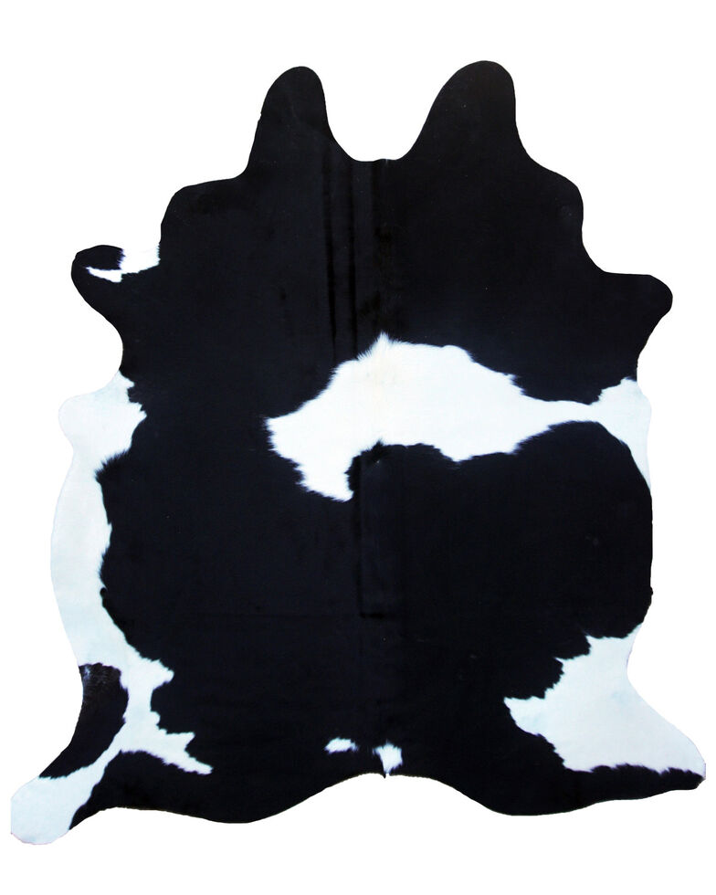 Carroll Co. Black & White Genuine Cowhide Rug, Black/white, hi-res