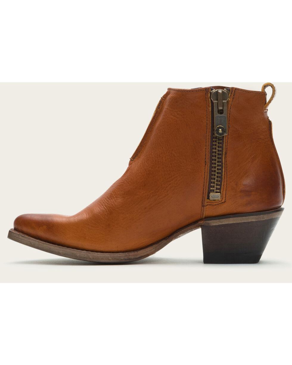 Frye Women's Cognac Sacha Moto Shortie Boots - Pointed Toe , Cognac, hi-res
