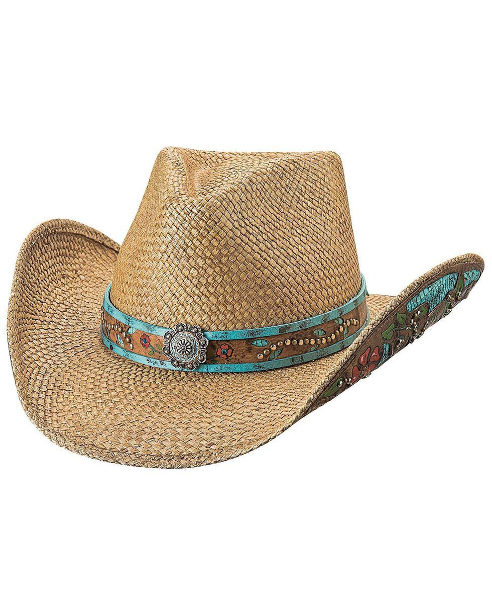 Bullhide Women's I Trust Myself Straw Hat , Natural, hi-res