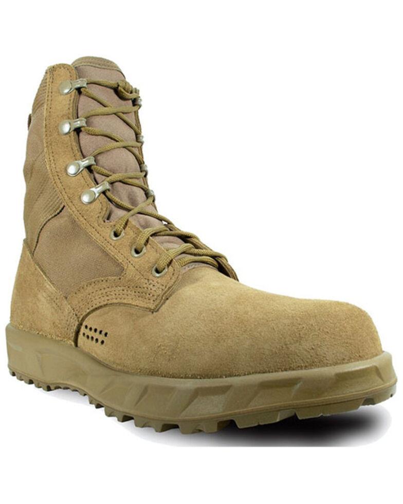McRae Men's T2 Ultra Light Hot Weather Combat Boots - Steel Toe, Coyote, hi-res