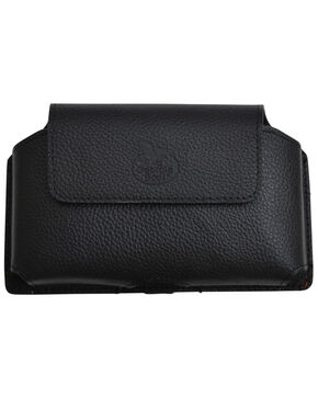 Georgia Black Pebble Print Leather Smartphone Case , Black, hi-res