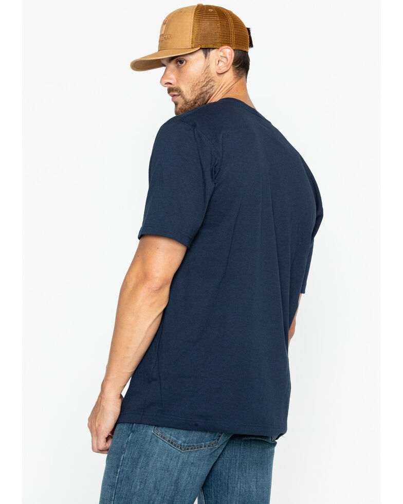 Carhartt Men's Solid Pocket Short Sleeve Work T-Shirt, Navy, hi-res