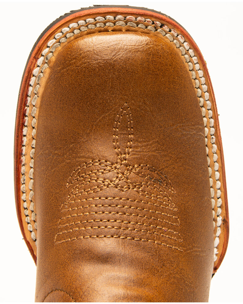 Ferrini Boys' Snake Print Western Boots - Round Toe, Red/brown, hi-res