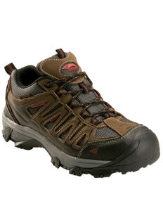 Avenger Men's Trench Waterproof Work Shoes - Steel Toe, Brown, hi-res