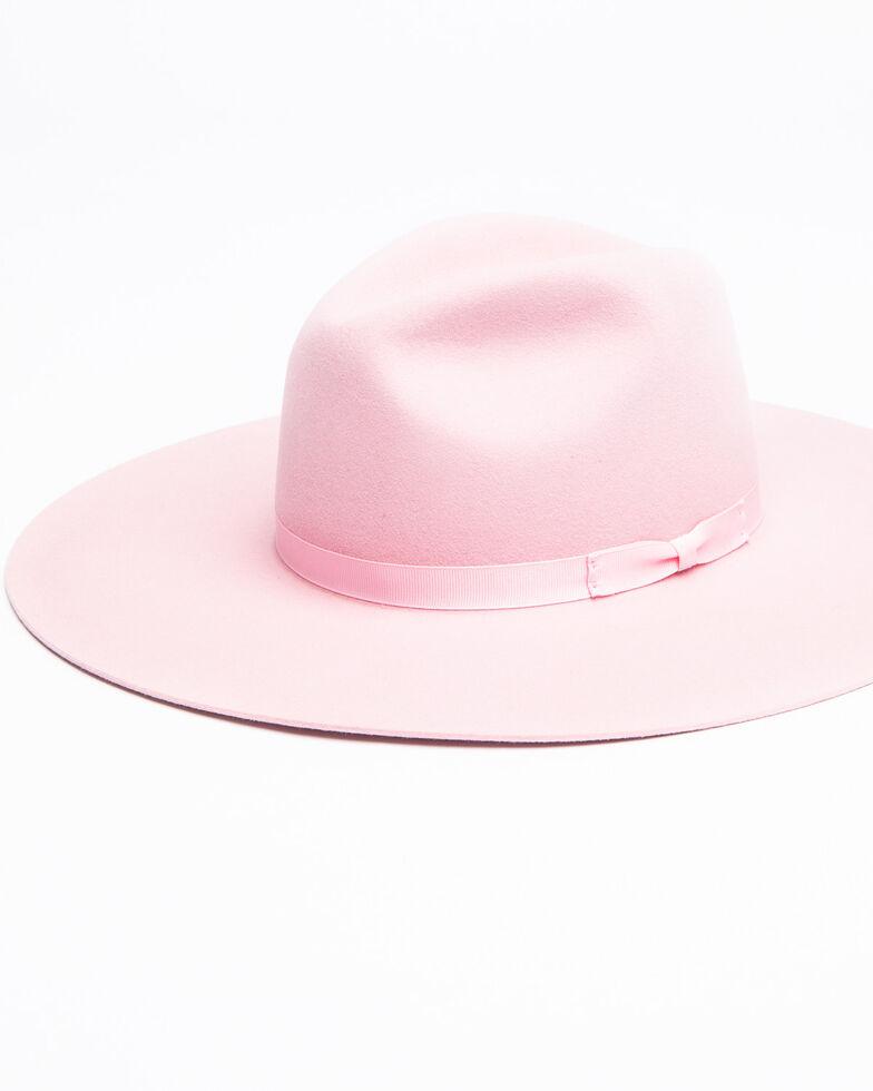 Rodeo King Women's Tracker Powder Pink Fur Felt Western Hat , Light Pink, hi-res