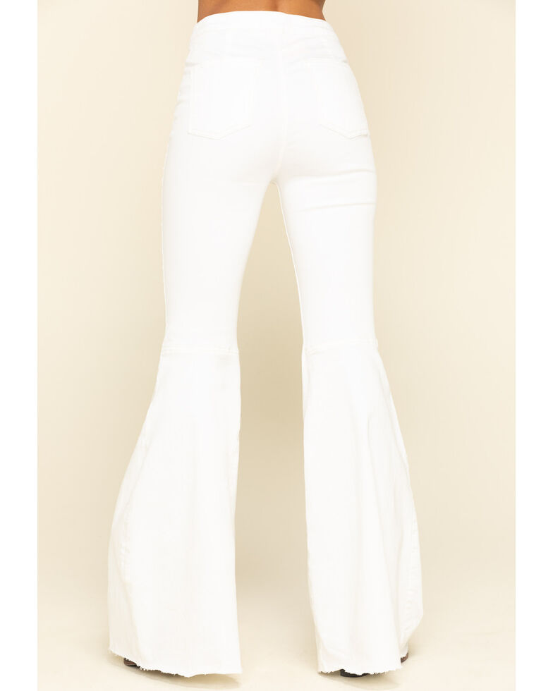 Free People Women's Black Just Float on Flare Jeans, White, hi-res