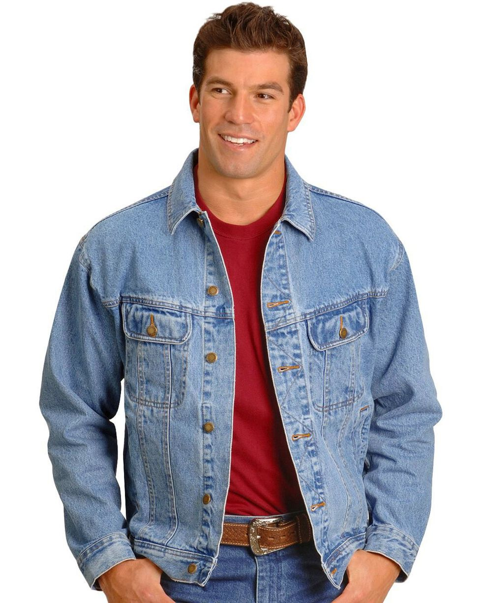 Wrangler Rugged Wear Men's Denim Jacket, Vintage, hi-res